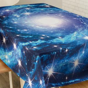 Starry Sky Print Fabric Waterproof Table Cloth - BLUE W60 INCH * L84 INCH
