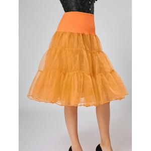 Flounce Light Up Bubble Cosplay Jupe - Orange L