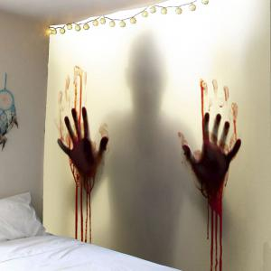 Blood Hand Shadow Printed Wall Art Tapestry