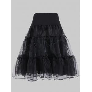 Plus Size Cosplay Light Up Party Skirt - BLACK 3XL