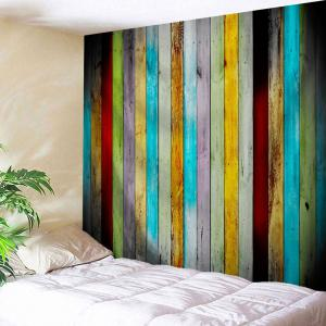 Colorful Woodgrain Polyester Wall Hanging Tapestry