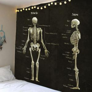 Skeleton Print Wall Decor Tapestry