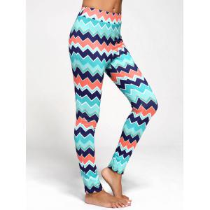 Chevron Print Flared Pants