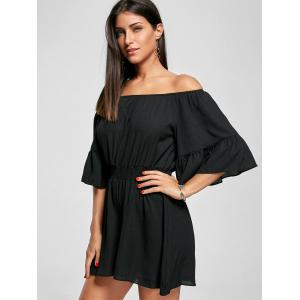 Ruffle Off The Shoulder Romper -