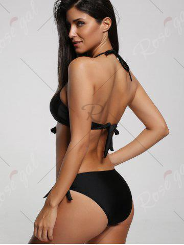 Shops Halter One Piece Padded Swimwear - XL BLACK Mobile