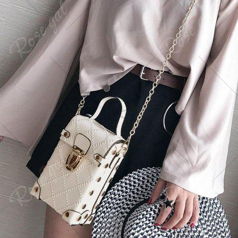 Outfits Stitching Cross Body Chain Bag - OFF-WHITE  Mobile