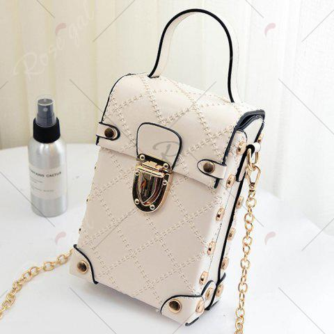 Trendy Stitching Cross Body Chain Bag - OFF-WHITE  Mobile