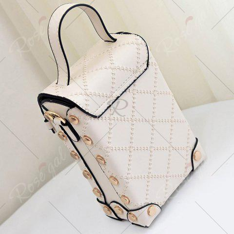 Sale Stitching Cross Body Chain Bag - OFF-WHITE  Mobile