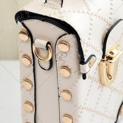 Latest Stitching Cross Body Chain Bag - OFF-WHITE  Mobile