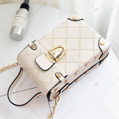Cheap Stitching Cross Body Chain Bag - OFF-WHITE  Mobile