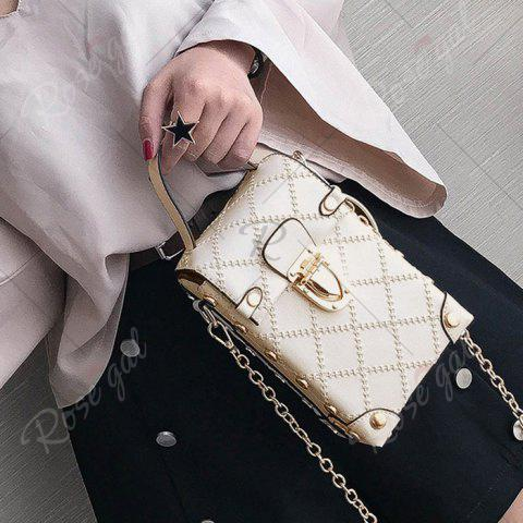 New Stitching Cross Body Chain Bag - OFF-WHITE  Mobile