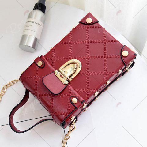 Latest Stitching Cross Body Chain Bag - RED  Mobile