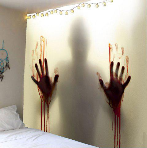 Smoky gray w59 inch l59 inch blood hand shadow printed for Bloody wall mural