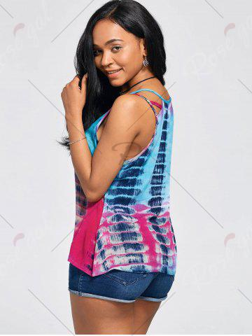 Outfit Tie-Dyed Print Sleeveless Baggy Blouse - XL COLORMIX Mobile