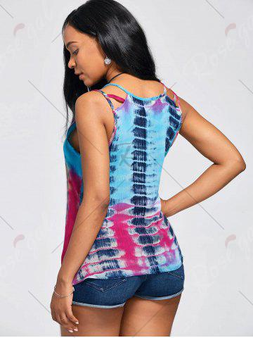Shops Tie-Dyed Print Sleeveless Baggy Blouse - XL COLORMIX Mobile