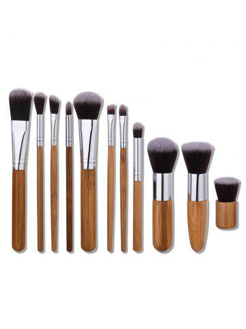 Cheap 11Pcs Nylon Wooden Handle Makeup Brushes Set - WOOD  Mobile
