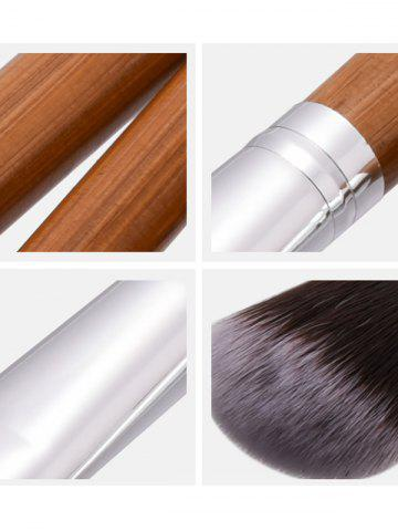 Unique 11Pcs Nylon Wooden Handle Makeup Brushes Set - WOOD  Mobile