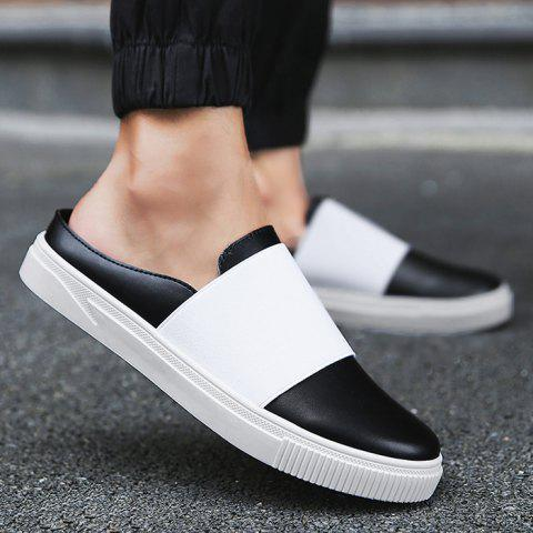 Chic Faux Leather Elastic Band Casual Shoes - 40 BLACK Mobile