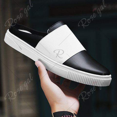 Store Faux Leather Elastic Band Casual Shoes - 40 BLACK Mobile