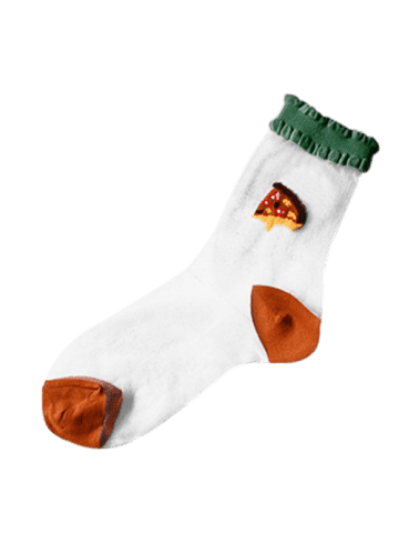 Affordable Flouncing Trim Glass Silk Cake Pattern Socks