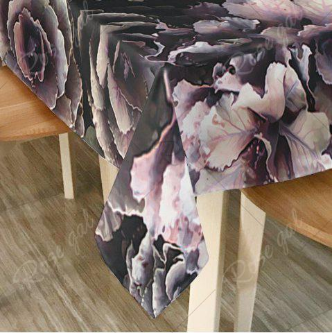 Sale Flower Print Home Decor Fabric Table Cloth - W54 INCH * L72 INCH BLACK Mobile