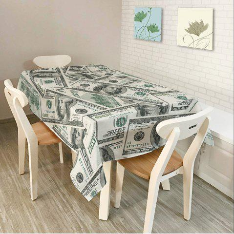 Latest Dollars Print Home Decor Dining Table Cloth - W54 INCH * L72 INCH GRAY Mobile