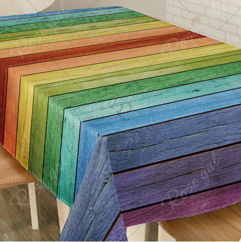 Outfit Colorful Wood Grain Print Home Decor Table Cloth - W54 INCH * L54 INCH COLORFUL Mobile