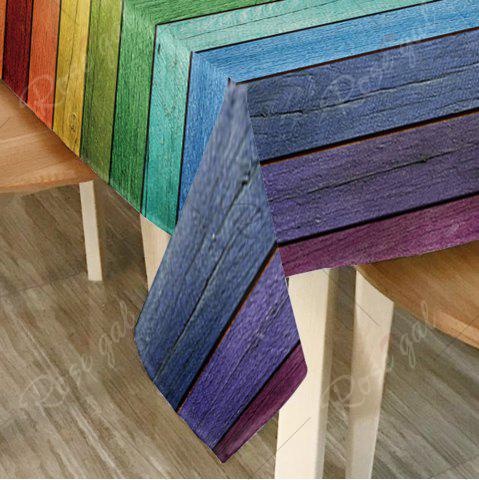 Shops Colorful Wood Grain Print Home Decor Table Cloth - W54 INCH * L54 INCH COLORFUL Mobile