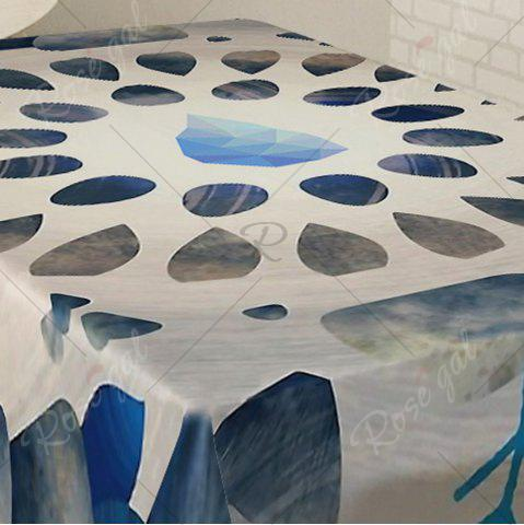 New Printed Waterproof Home Decor Table Cloth - W54 INCH * L72 INCH COLORMIX Mobile