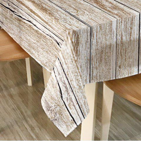 Affordable Wood Flooring Print Home Decor Fabric Table Cloth - W60 INCH * L84 INCH GREY WHITE Mobile