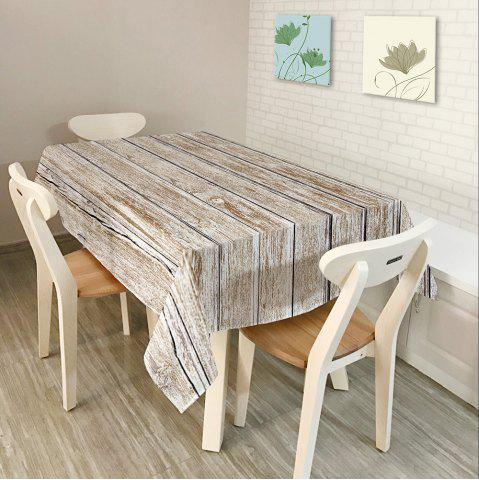 Shops Wood Flooring Print Home Decor Fabric Table Cloth - W60 INCH * L84 INCH GREY WHITE Mobile