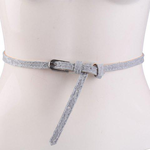 Discount Pin Buckle Embroidered Coat Waist Belt GRAY