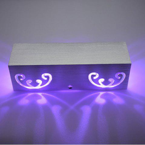 Latest Modern Aluminum Cuboid Shape LED Wall Light - PURPLE  Mobile