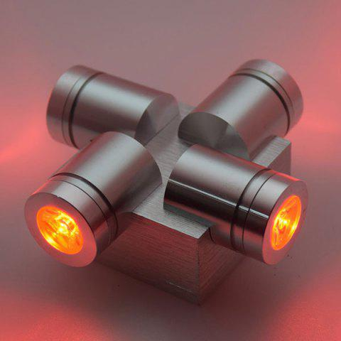 Unique Modern Aluminum LED Home Decor Wall Light - RED  Mobile
