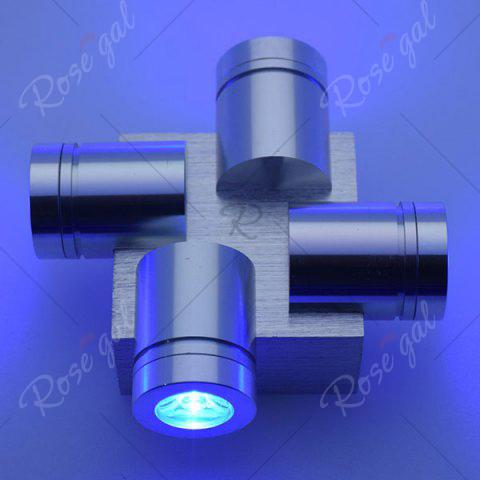 Outfit Modern Aluminum LED Home Decor Wall Light - BLUE  Mobile