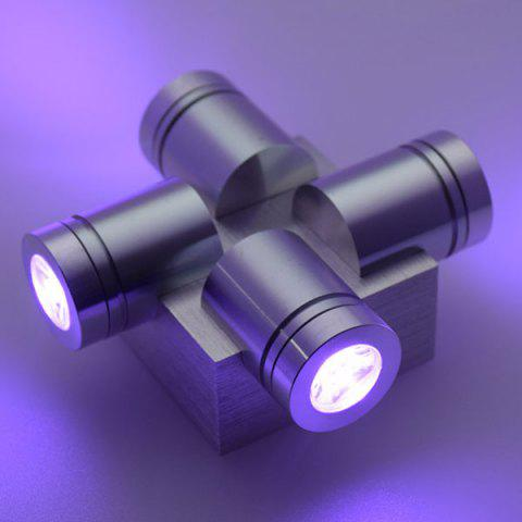 Latest Modern Aluminum LED Home Decor Wall Light - PURPLE  Mobile