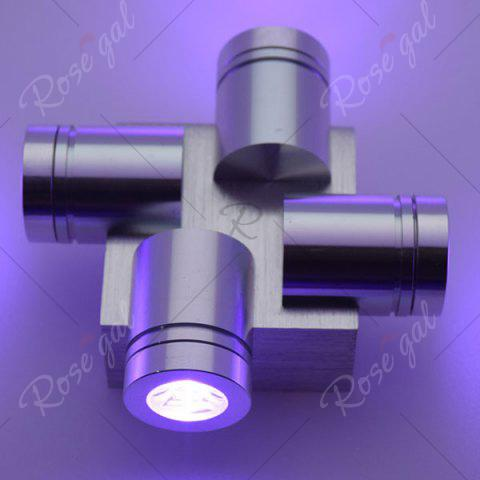 Buy Modern Aluminum LED Home Decor Wall Light - PURPLE  Mobile