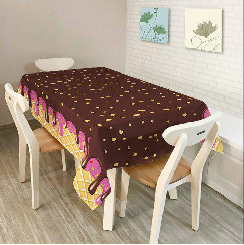 Online Chocolate Print Home Decor Fabric Table Cloth - W54 INCH * L72 INCH CHOCOLATE Mobile