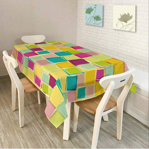 Fancy Colorful Plaid Print Home Decor Fabric Table Cloth - W54 INCH * L72 INCH COLORFUL Mobile