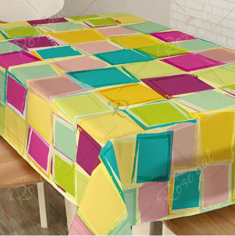 Best Colorful Plaid Print Home Decor Fabric Table Cloth - W60 INCH * L84 INCH COLORFUL Mobile