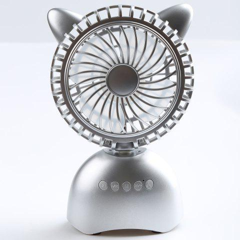 Outfits Wireless Bluetooth Speaker USB Portable Mini Desk Fan - 20*13*6CM SILVER Mobile