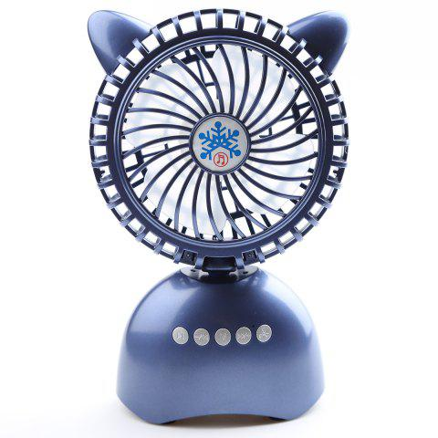 Haut-parleur Bluetooth sans fil USB Portable Mini Desk Fan Bleu 20*13*6CM