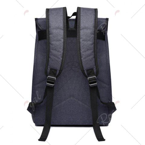 Store Camo Panel Buckle Straps Backpack - DEEP GRAY  Mobile