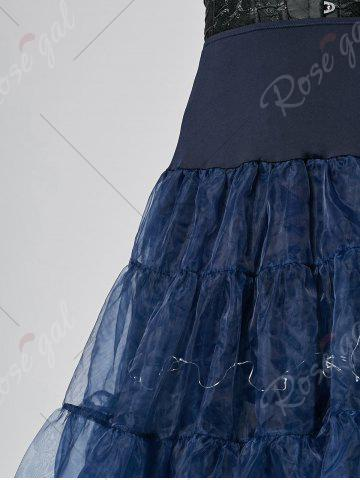 Trendy Flounce Light Up Bubble Cosplay Skirt - CERULEAN L Mobile