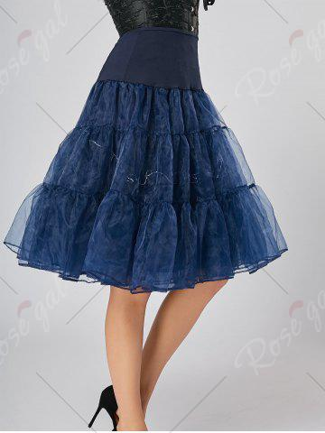 Outfits Flounce Light Up Bubble Cosplay Skirt - CERULEAN L Mobile