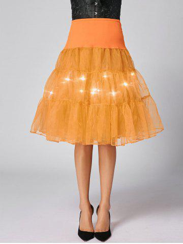 Flounce Light Up Bubble Cosplay Jupe Orange L