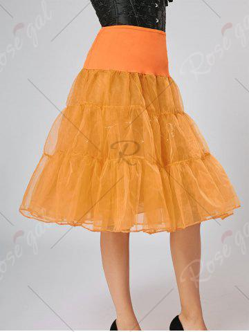 Latest Flounce Light Up Bubble Cosplay Skirt - ORANGE M Mobile
