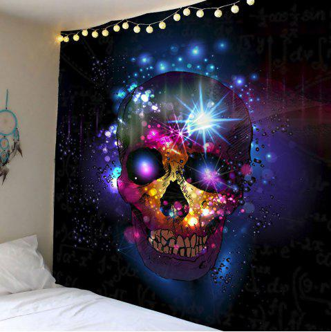 Home Decor Skull Print Wall Hanging Tapestry - Deep Blue - W79 Inch * L71 Inch