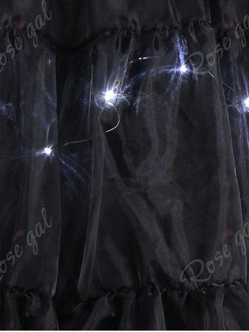Fancy Plus Size Cosplay Light Up Party Skirt - BLACK 4XL Mobile