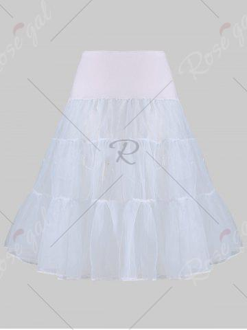 Shop Plus Size Cosplay Light Up Party Skirt - LIGHT GRAY 4XL Mobile